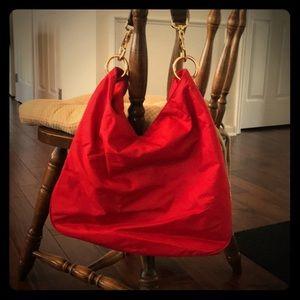 Banana Republic Red Hobo Bag